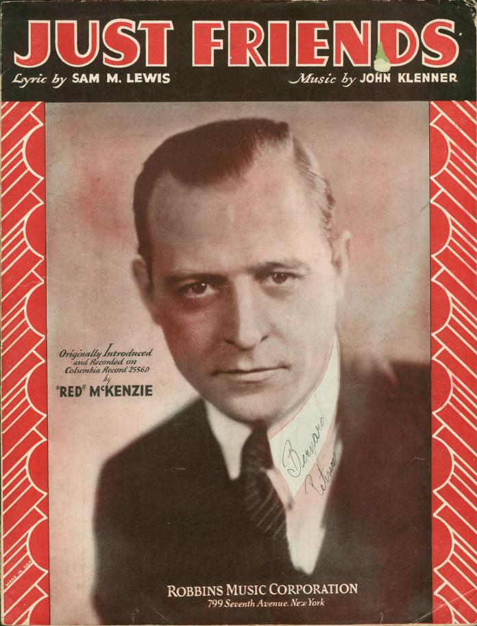 Sam M Just Friends Lewis /& John Klenner 1931
